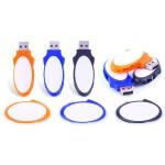 Plastic Oval Shape USB Swivel